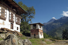 Bhutan, Paro, stock afbeelding