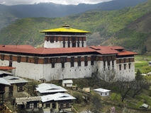 Bhutan - Paro Dzong. Paro Dzong (Monastery) in the Kingdom of Bhutan - The Land of the Thunder Dragon Stock Image