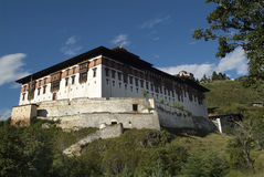 Bhutan, Paro,. Bhutan, Paro Dzong an Ta Dzong above Stock Photography