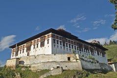 Bhutan, Paro,. Bhutan, Paro Dzong and Ta Dzong above royalty free stock image