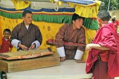 Bhutan, Paro, music Royalty Free Stock Photos