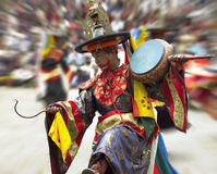 Bhutan - Paro Tsechu. Dancer at the Paro Tsechu (Festival) in Paro Dzong (Jangsarpey Lhakhang) in the Kingdom of Bhutan Stock Photo