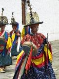 Bhutan - Paro Tsechu (Boeddhistisch Festival) Stock Foto