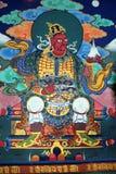 Bhutan religiös målning Fotografering för Bildbyråer