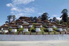 Bhutan, Thimpu, Dochu La. Bhutan, Druk Wangyal memorial on Dochu La pass royalty free stock photo