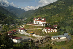 Bhutan Trashigang, Royaltyfri Bild