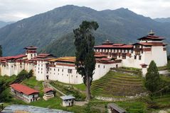Bhutan, Trongsa,. Asia, Bhutan, Dzong of Trongsa stock image