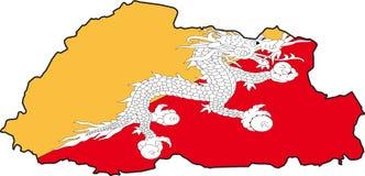 Bhutan-Vecteur de carte Images libres de droits