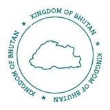 Bhutan vector map. Royalty Free Stock Photography