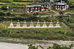 Bhutan Wangdi Phodrang, Royaltyfri Bild