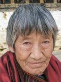 Bhutan - Woman. Portrait of a Bhutanese Woman. Thimphu, Bhutan Stock Image