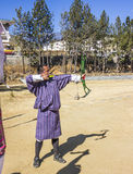 Bhutanese τοξότης Στοκ φωτογραφία με δικαίωμα ελεύθερης χρήσης