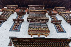 Bhutanese Architecture Stock Photography