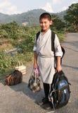 bhutanese chłopiec szkoła Zdjęcia Royalty Free
