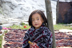 Bhutanese child, Bhutan Royalty Free Stock Photography