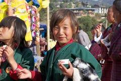 Bhutanese child, Gangteng, Bhutan Royalty Free Stock Photo