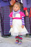 Bhutanese child at the Trongsa Dzong, Trongsa, Bhutan Stock Photography