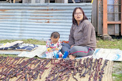 Bhutanese mother and child, Bhutan Stock Photos