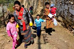Bhutanese People Royalty Free Stock Photos