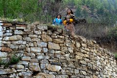Bhutanese People Stock Image
