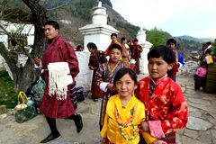 Bhutanese People Royalty Free Stock Images