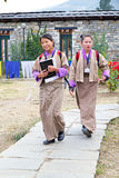 Bhutanese students Stock Photo