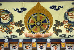 Bhutanese-style building, Thimphu, Bhutan Stock Photo