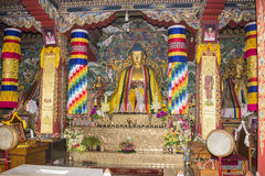Bhutanese temple at Bodhgaya Royalty Free Stock Photos