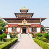 Bhutanese Temple, Bodhgaya. Royal Bhutan Monastery (Bhutanese Temple) near Mahabodhi Temple in Bodh Gaia, Bihar state of India Stock Photos