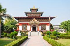 Bhutanese Temple, Bodhgaya Stock Photos