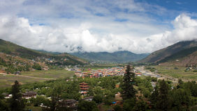 Bhutanese town paro Royalty Free Stock Photos