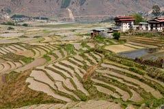 Bhutanese wioska Zdjęcie Royalty Free