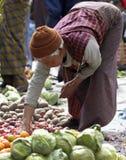 Bhutanese woman at Paro Market - Bhutan Stock Photo