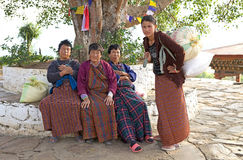 Bhutanese women, Punakha, Bhutan Royalty Free Stock Images