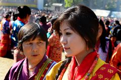 Bhutanese Women Stock Photography