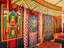 bhutanesetapestry Royaltyfria Foton