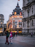 BHV/Marais lighted at night, Paris, France, photographed from th Royalty Free Stock Images