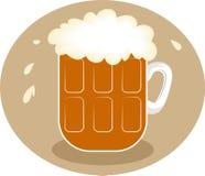 Bière écumeuse illustration libre de droits