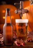 Bière anglaise de potiron photo libre de droits