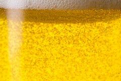 Bière avec des bubbels Image libre de droits