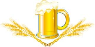 Bière avec des oreilles illustration stock