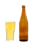 Bière avec la bouteille Photographie stock