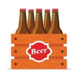 Bière-boîte-plat Photo libre de droits