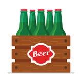 Bière-boîte-plat Images libres de droits