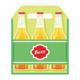 Bière-boîte-plat Image stock