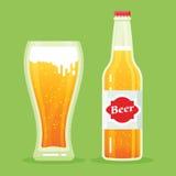 Bière-boîte-plat Photos stock