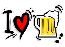 Bière d'amour Photographie stock