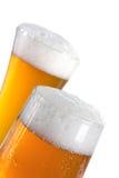 Bière dans une glace Photos stock
