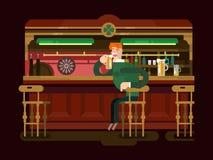 Bière de bar de boutique Images stock