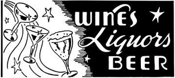 Bière de boissons alcoolisées de vins illustration libre de droits